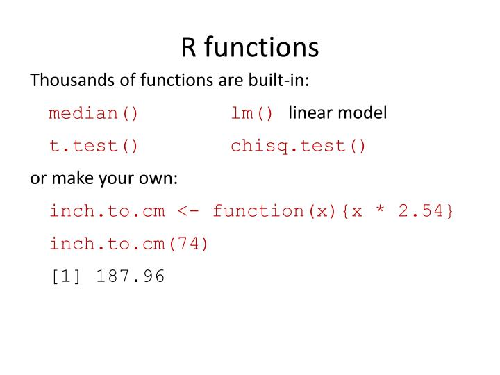 R functions