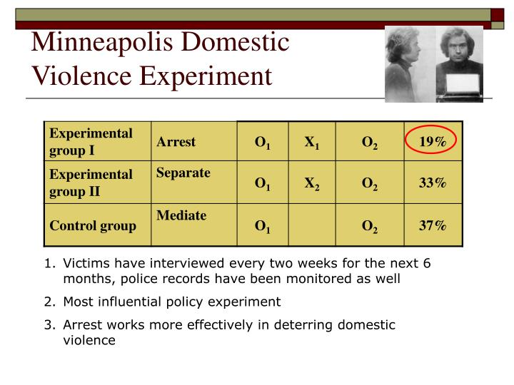 minneapolis domestic violence experiment The minneapolis domestic violence experiment updated on 01/31/2017 at 11:01:50 this experiment became known as: the minneapolis domestic violence experiment.