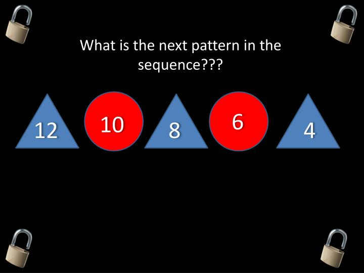 What is the next pattern in the sequence???