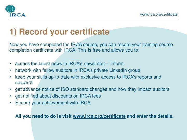 www.irca.org/certificate