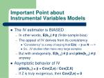 important point about instrumental variables models3