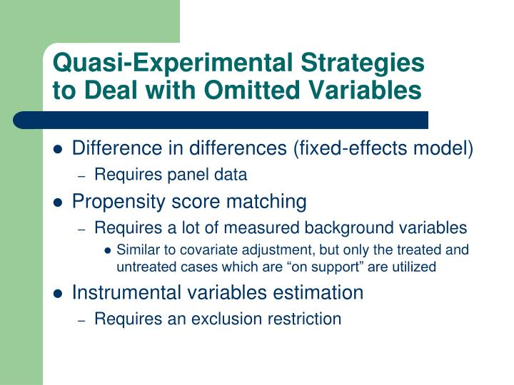 Quasi-Experimental Strategies