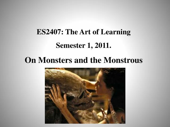 ES2407: The Art of Learning