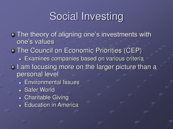 Social Investing