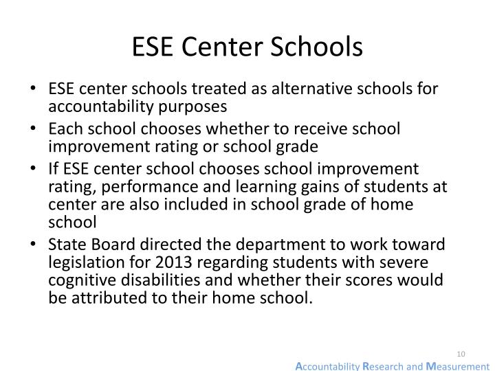 ESE Center Schools