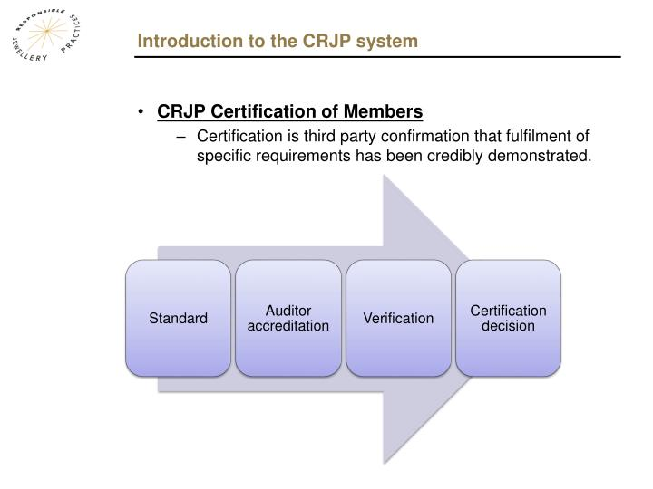 Introduction to the CRJP system
