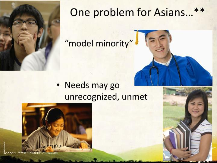 One problem for Asians…**