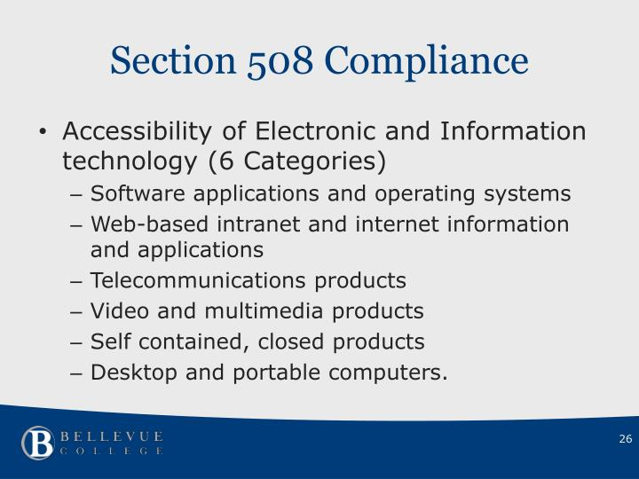Section 508 Compliance