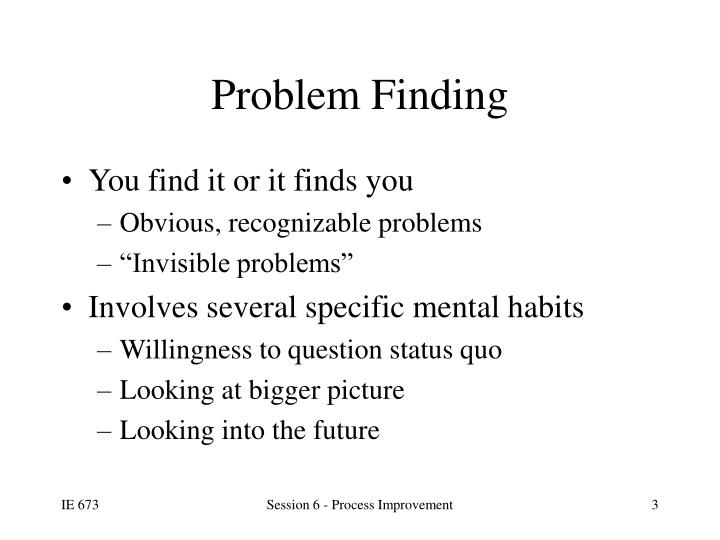 Problem finding