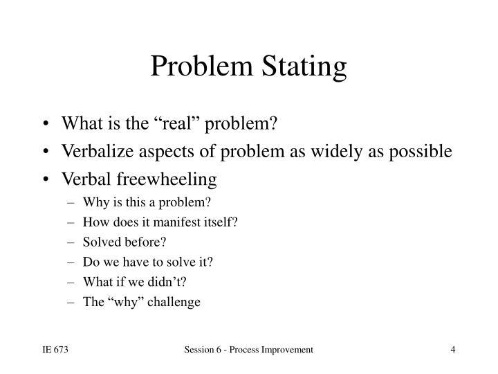 Problem Stating