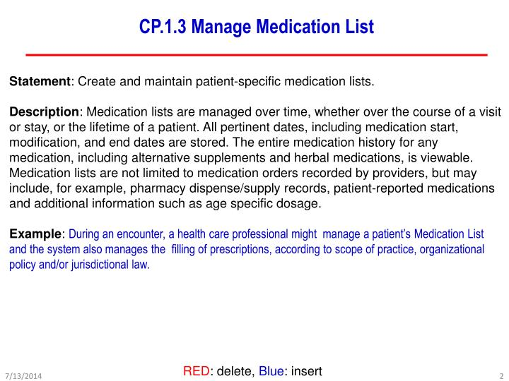 Cp 1 3 manage medication list