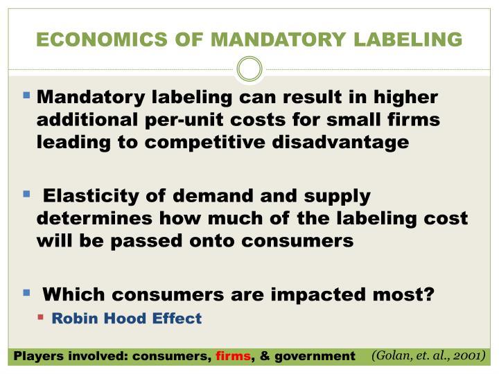ECONOMICS OF MANDATORY LABELING