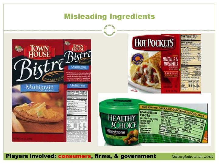 Misleading Ingredients