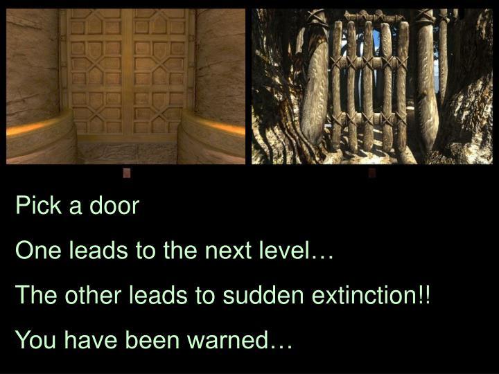 Pick a door