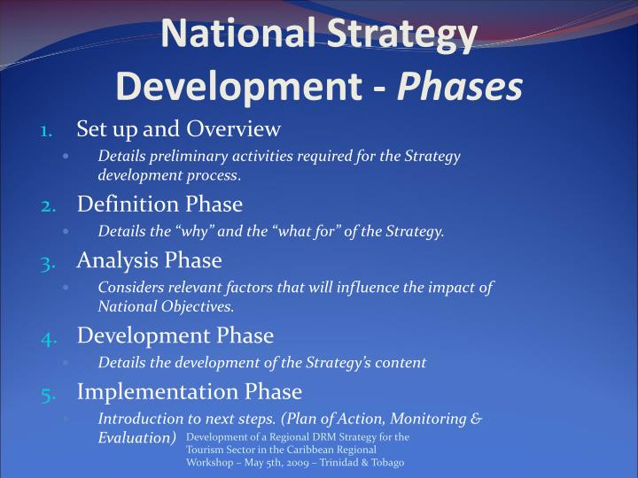 National Strategy Development -