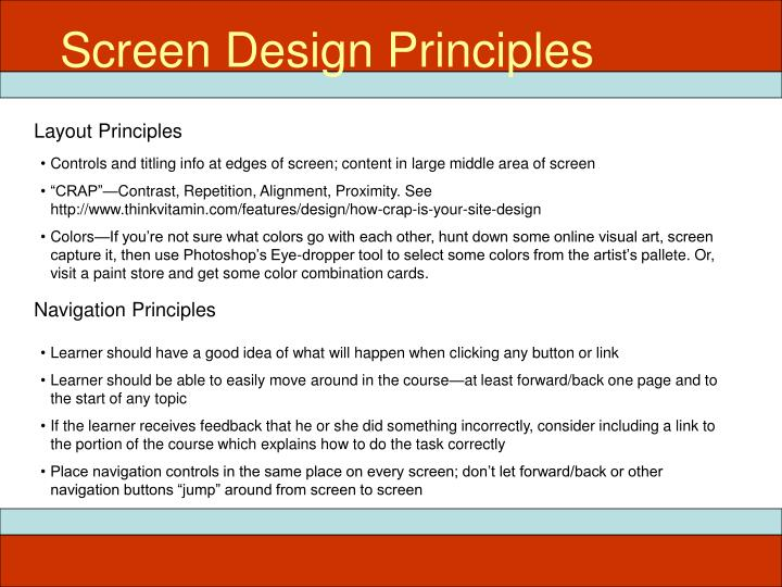 Screen Design Principles