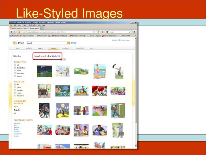 Like-Styled Images