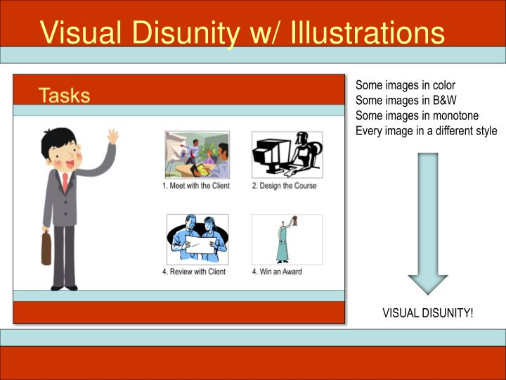Visual Disunity w/ Illustrations