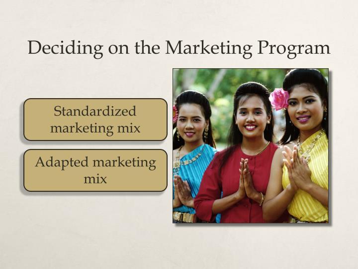 Standardized marketing mix