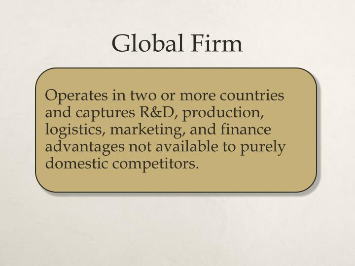 Global Firm
