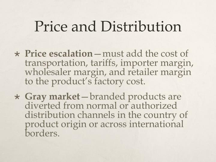 Price and Distribution
