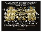 a the papacy at avignon and the great schism