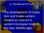 a the revival of trade