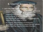 b internal tensions grow1