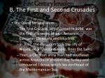 b the first and second crusades1