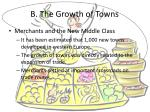 b the growth of towns1