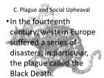 c plague and social upheaval
