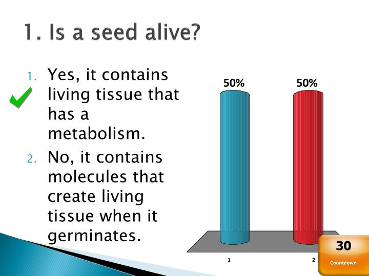 1. Is a seed alive?
