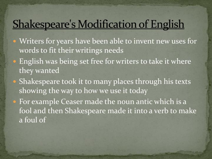 Shakespeare's M