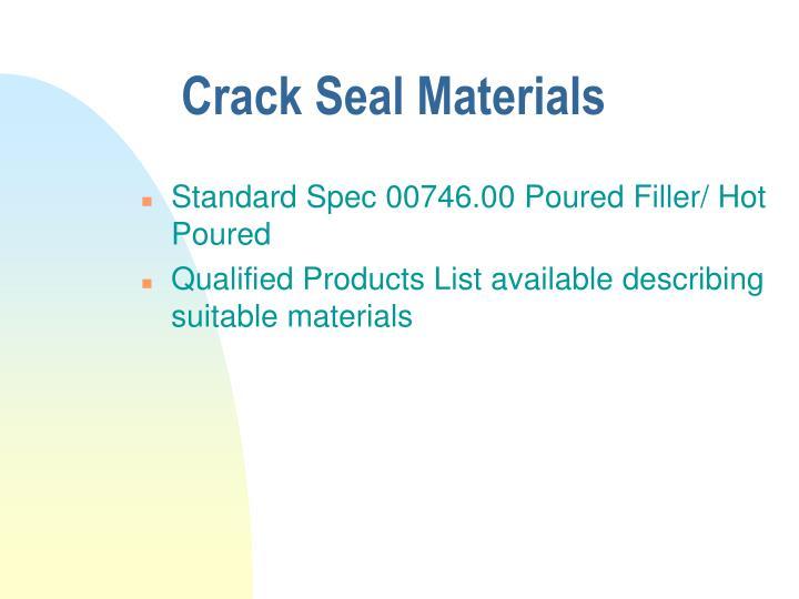 Crack Seal Materials