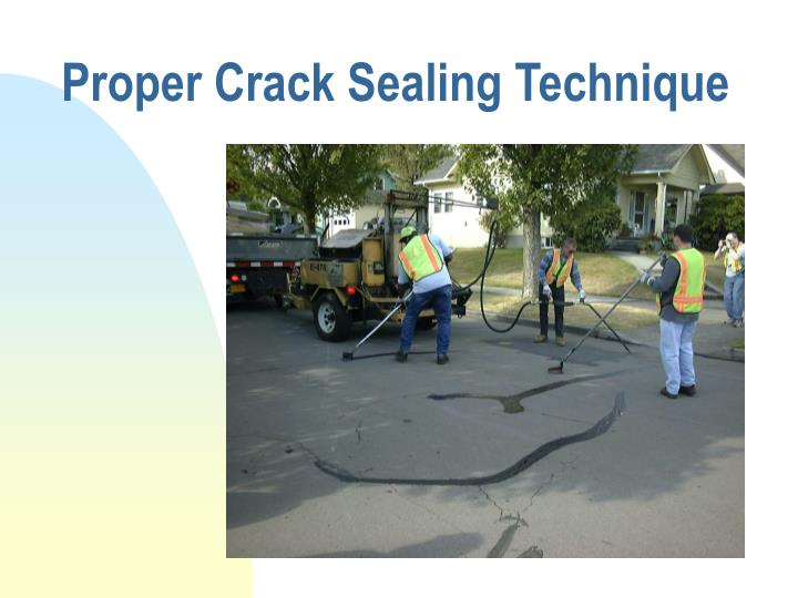 Proper Crack Sealing Technique