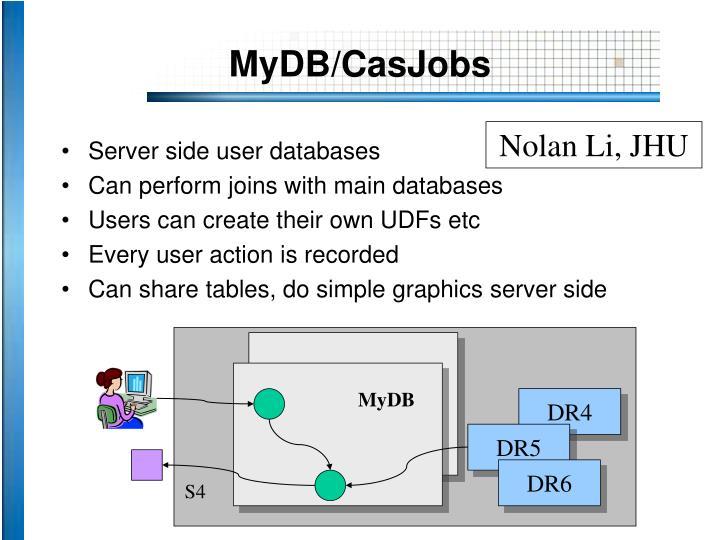 MyDB/CasJobs