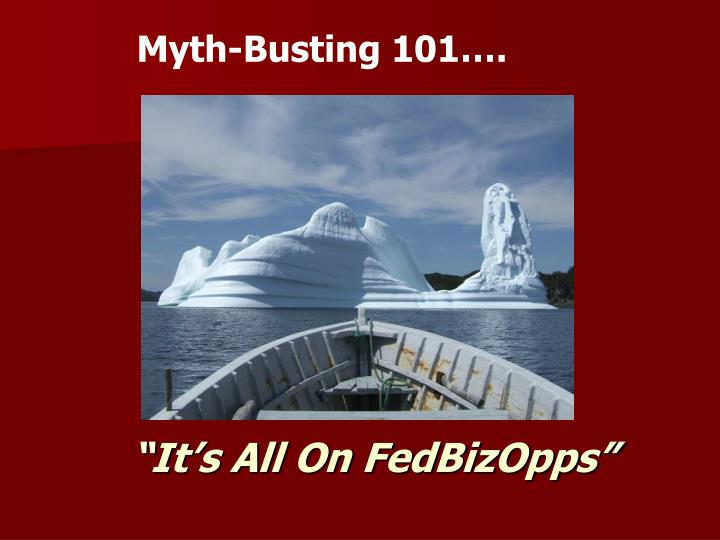 Myth-Busting 101….