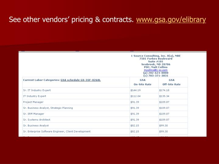 See other vendors' pricing & contracts.
