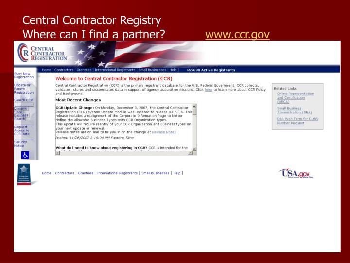 Central Contractor Registry