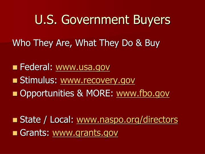 U.S. Government Buyers