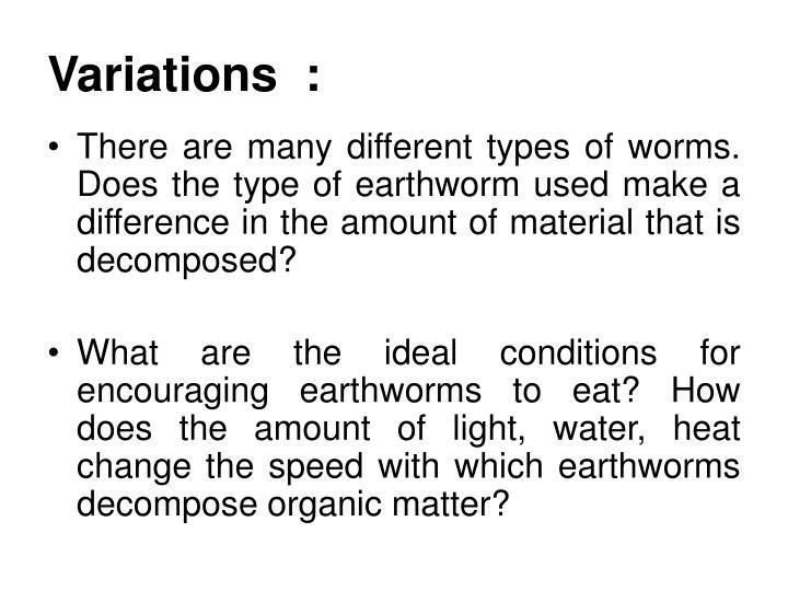 Variations  :