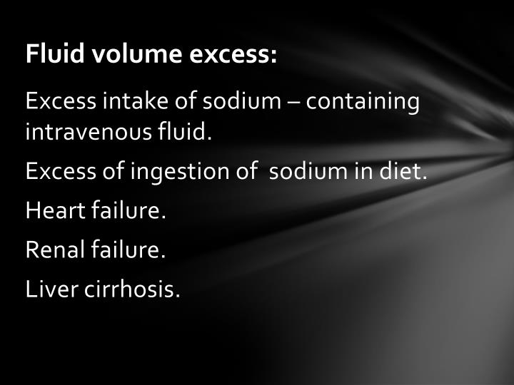 Fluid volume excess: