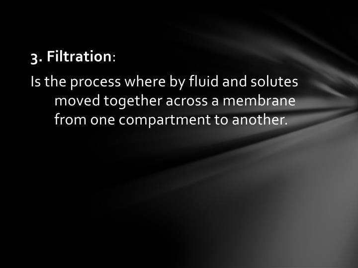 3. Filtration