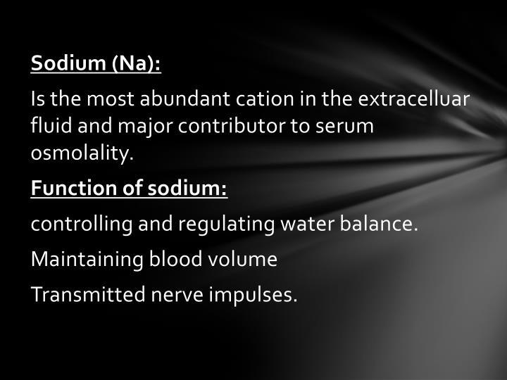 Sodium (Na):