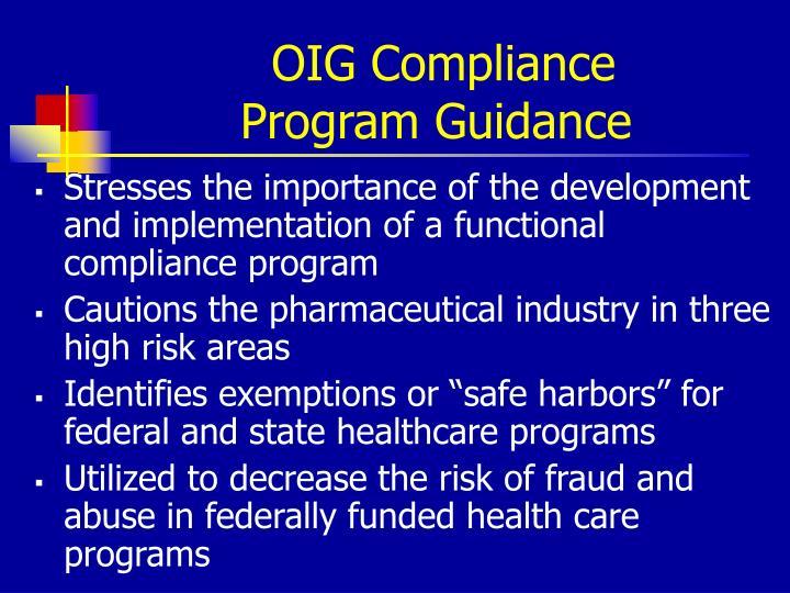 OIG Compliance
