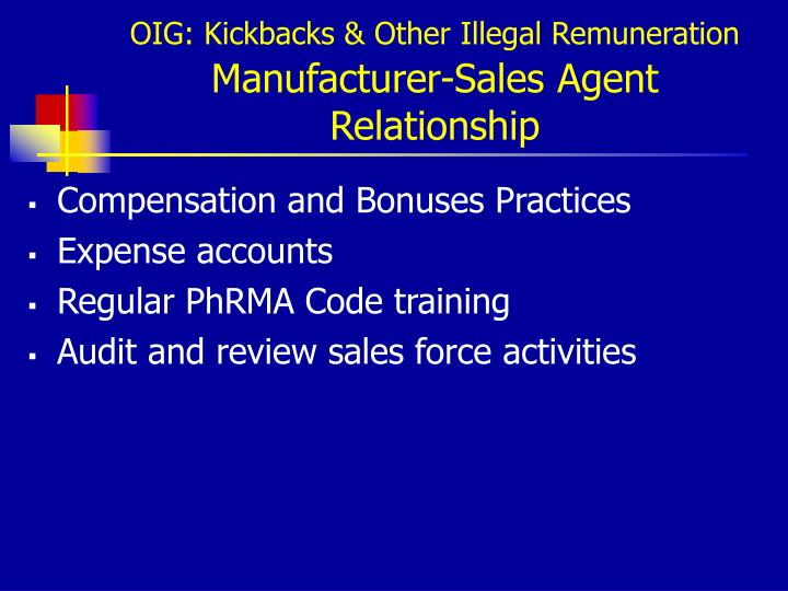 OIG: Kickbacks & Other Illegal Remuneration