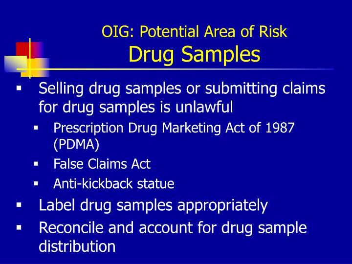 OIG: Potential Area of Risk