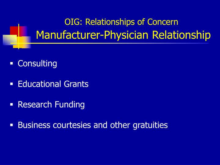 OIG: Relationships of Concern