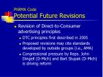 phrma code potential future revisions