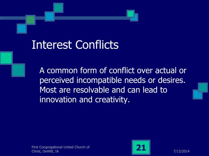 Interest Conflicts